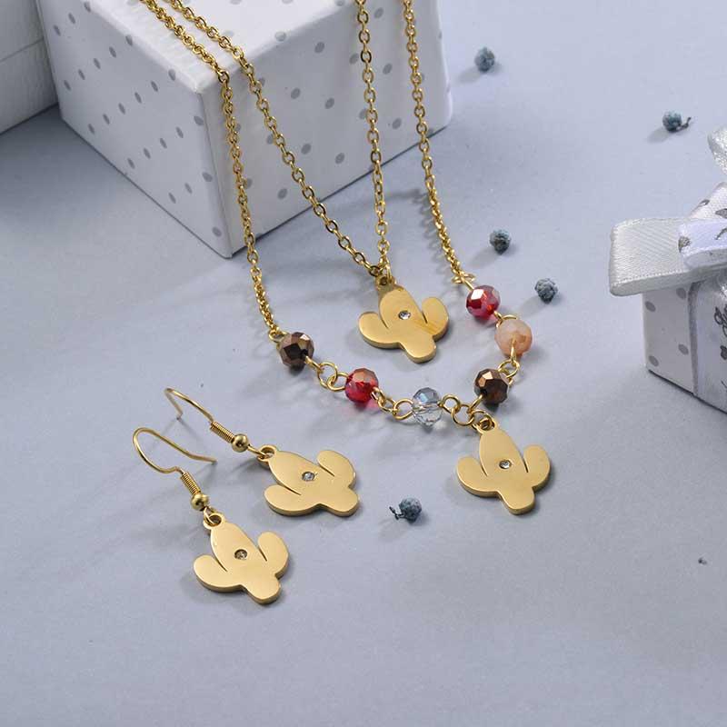 Conjunto de Joyas de Acero Inoxidable para Mujer -SSCSG107-28628