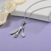 Collares de Acero Inoxidable para Mujer -SSNEG129-28653