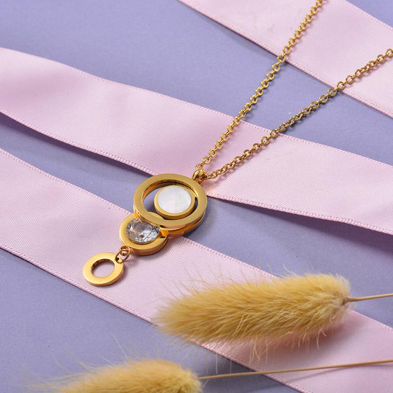 Collares de Acero Inoxidable para Mujer -SSNEG129-28662