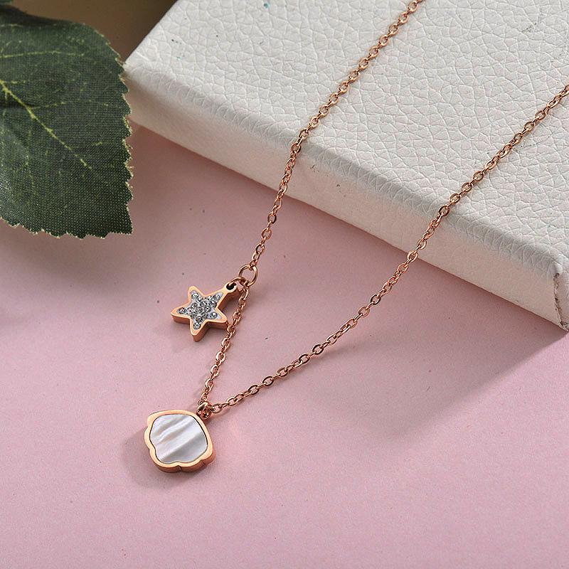Collares de Acero Inoxidable para Mujer -SSNEG157-28430