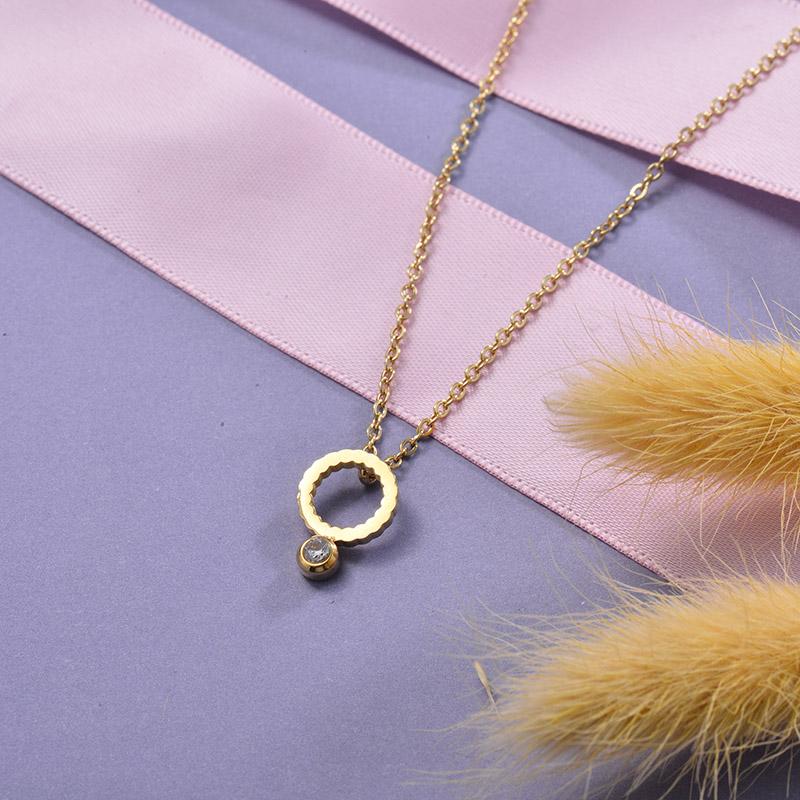 Collares de Acero Inoxidable para Mujer -SSNEG129-28666
