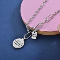 Collares de Acero Inoxidable para Mujer -SSNEG157-28412