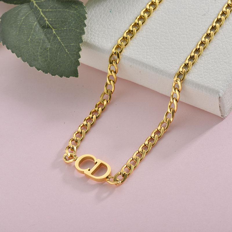 Collares de Acero Inoxidable para Mujer -SSNEG157-28421