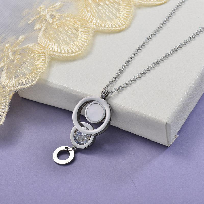 Collares de Acero Inoxidable para Mujer -SSNEG129-28651