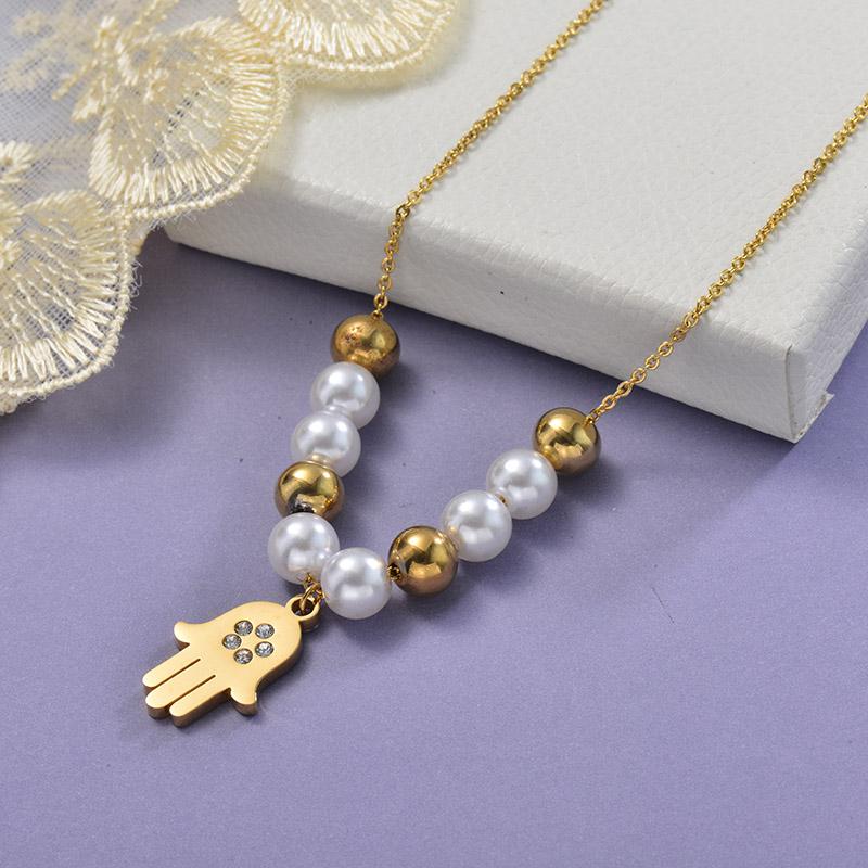 Collares de Acero Inoxidable para Mujer -SSNEG129-28649