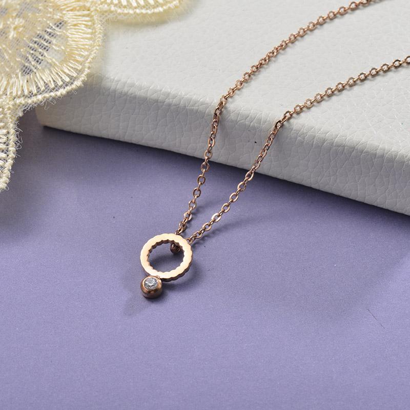 Collares de Acero Inoxidable para Mujer -SSNEG129-28656