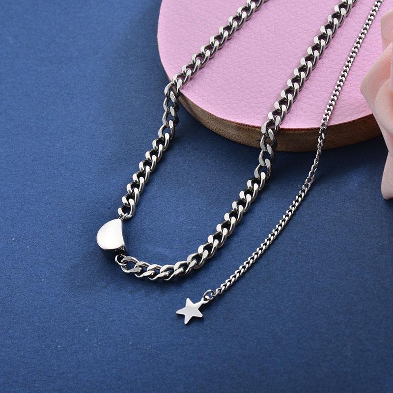 Collares de Acero Inoxidable para Mujer -SSNEG157-28416