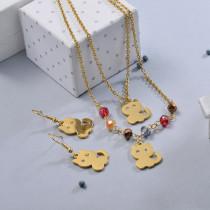 Conjunto de Joyas de Acero Inoxidable para Mujer -SSCSG107-28636