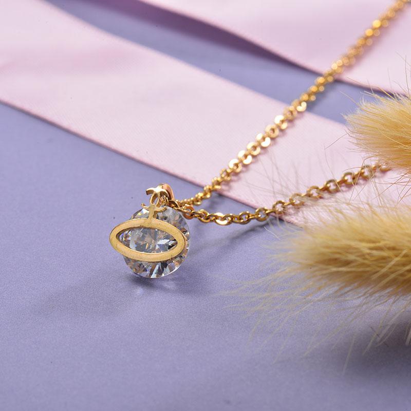 Collares de Acero Inoxidable para Mujer -SSNEG129-28684