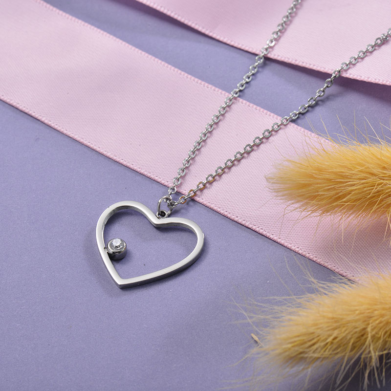 Collares de Acero Inoxidable para Mujer -SSNEG129-28682