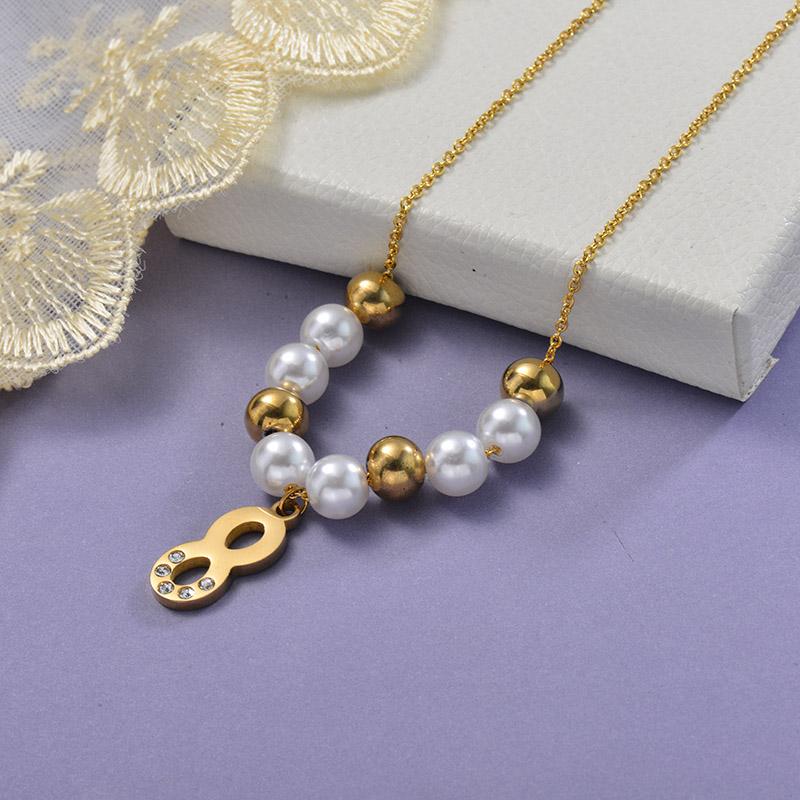 Collares de Acero Inoxidable para Mujer -SSNEG129-28648