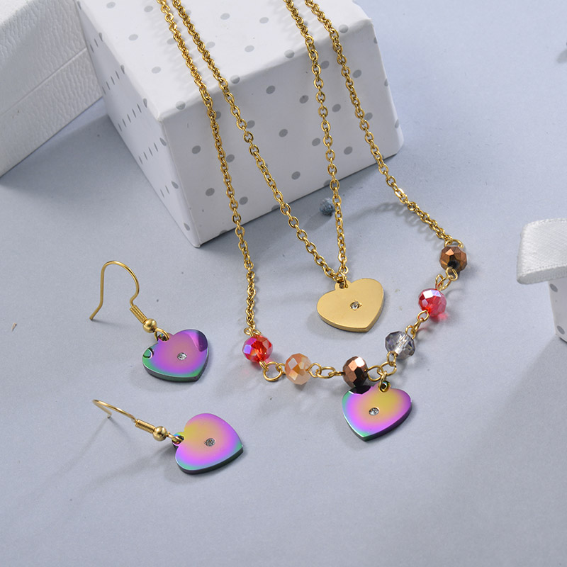 Conjunto de Joyas de Acero Inoxidable para Mujer -SSCSG107-28644