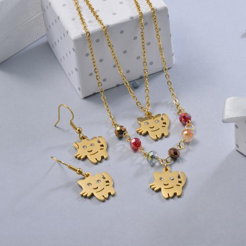 Conjunto de Joyas de Acero Inoxidable para Mujer -SSCSG107-28643