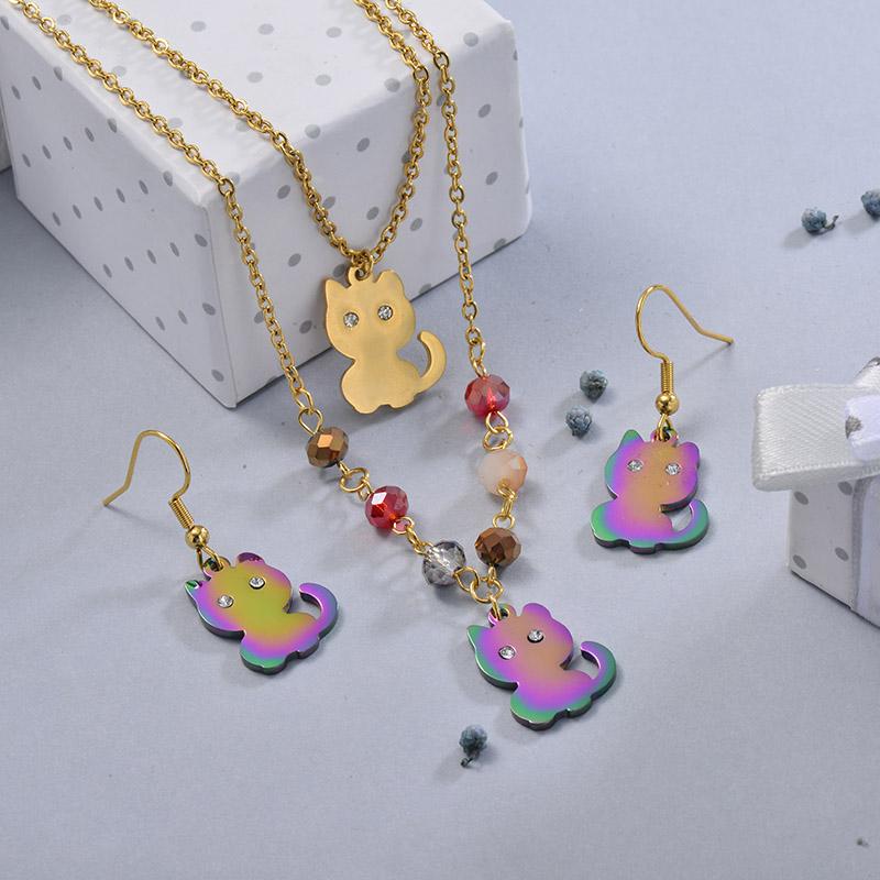 Conjunto de Joyas de Acero Inoxidable para Mujer -SSCSG107-28631