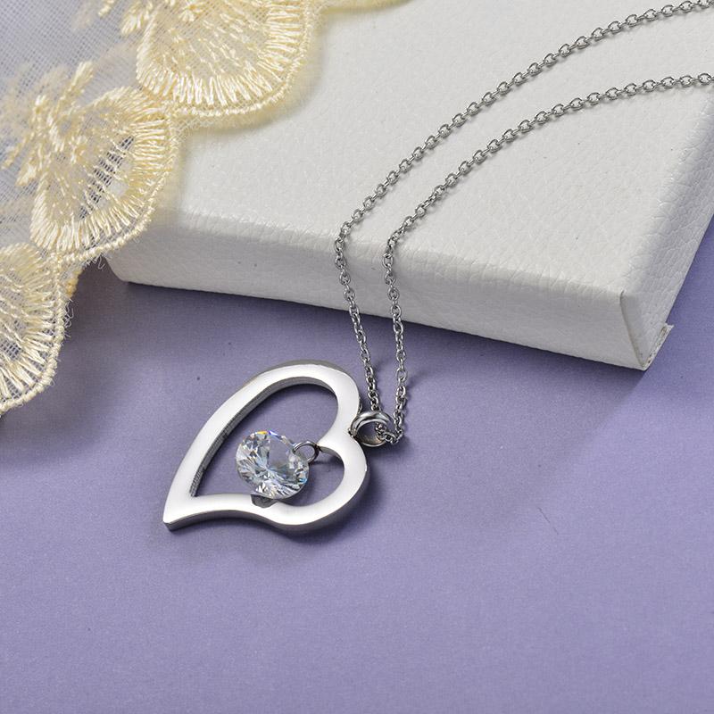 Collares de Acero Inoxidable para Mujer -SSNEG129-28652