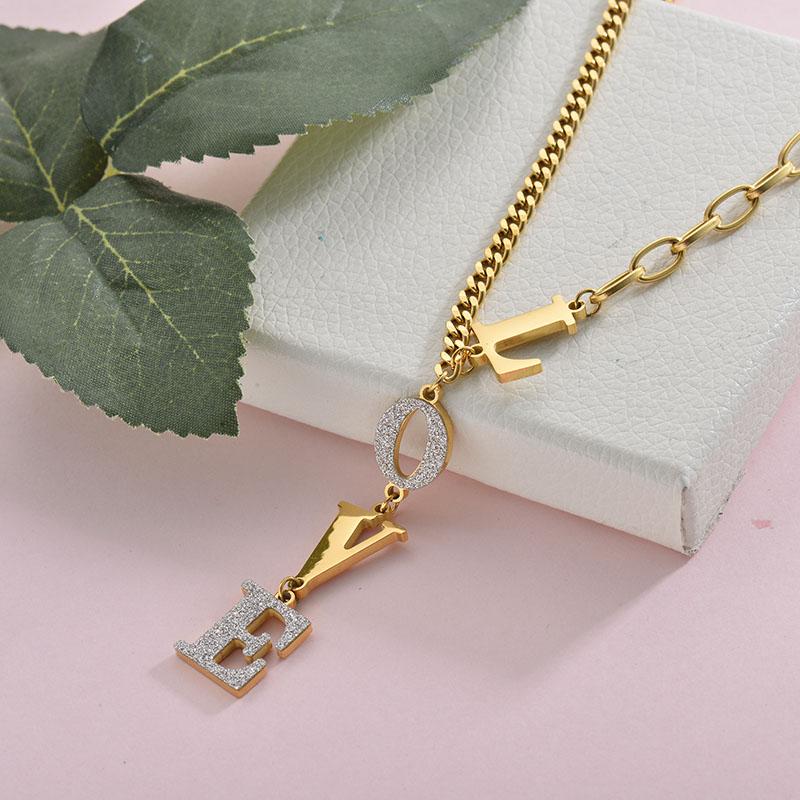 Collares de Acero Inoxidable para Mujer -SSNEG157-28422