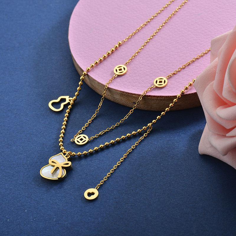 Collares de Acero Inoxidable para Mujer -SSNEG157-28419