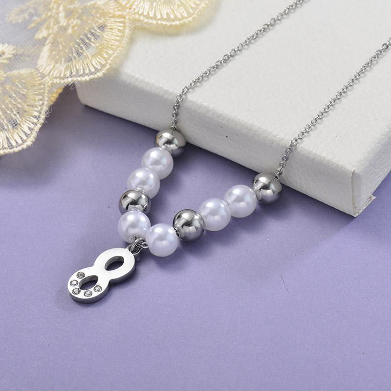 Collares de Acero Inoxidable para Mujer -SSNEG129-28661