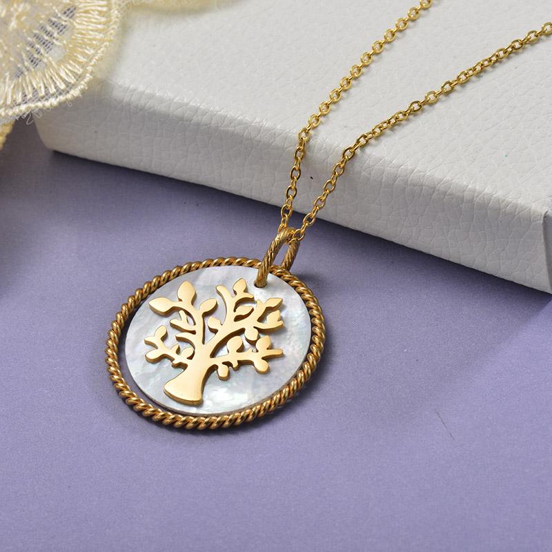 Collares de Acero Inoxidable para Mujer -SSNEG129-28660