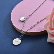 Collares de Acero Inoxidable para Mujer -SSNEG157-28414