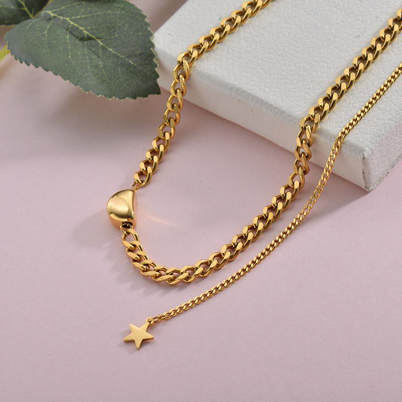 Collares de Acero Inoxidable para Mujer -SSNEG157-28431
