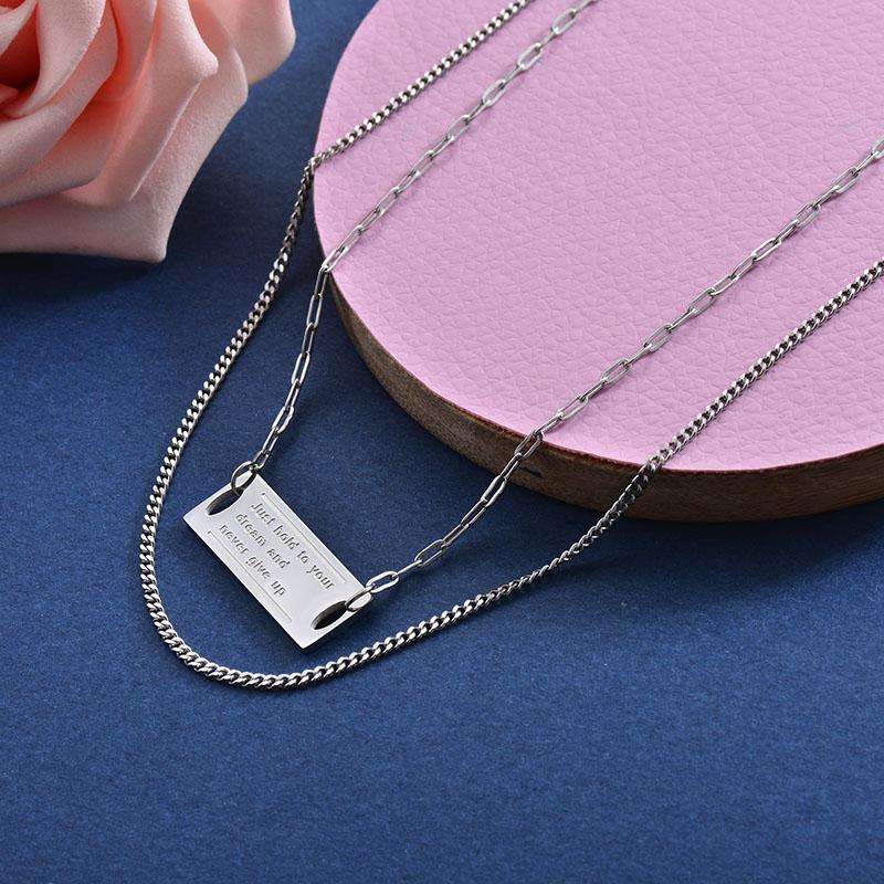 Collares de Acero Inoxidable para Mujer -SSNEG157-28406