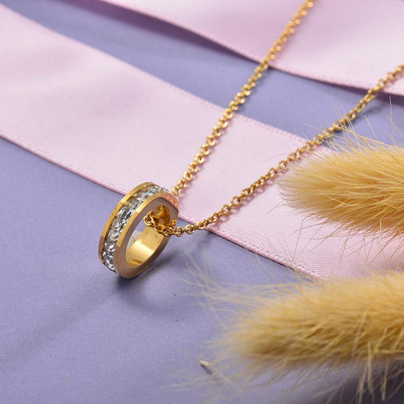Collares de Acero Inoxidable para Mujer -SSNEG129-28665