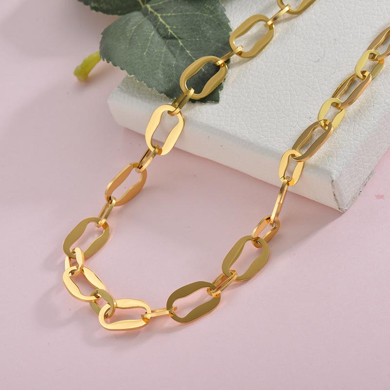 Collares de Acero Inoxidable para Mujer -SSNEG157-28425