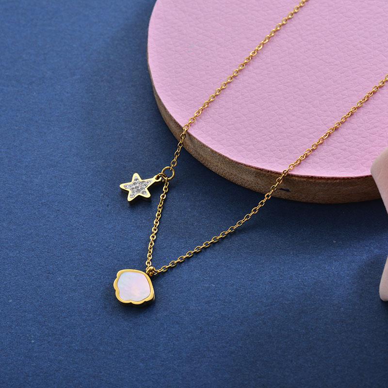Collares de Acero Inoxidable para Mujer -SSNEG157-28418