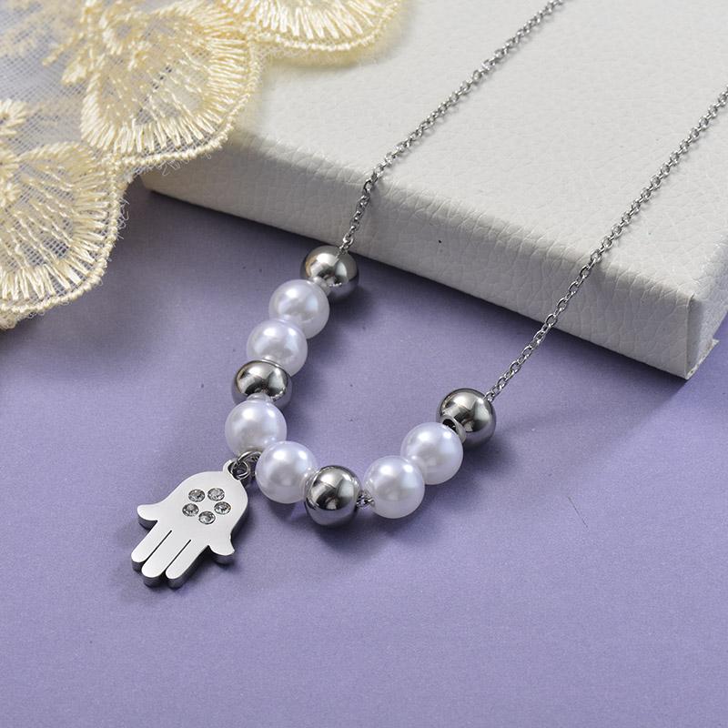 Collares de Acero Inoxidable para Mujer -SSNEG129-28647