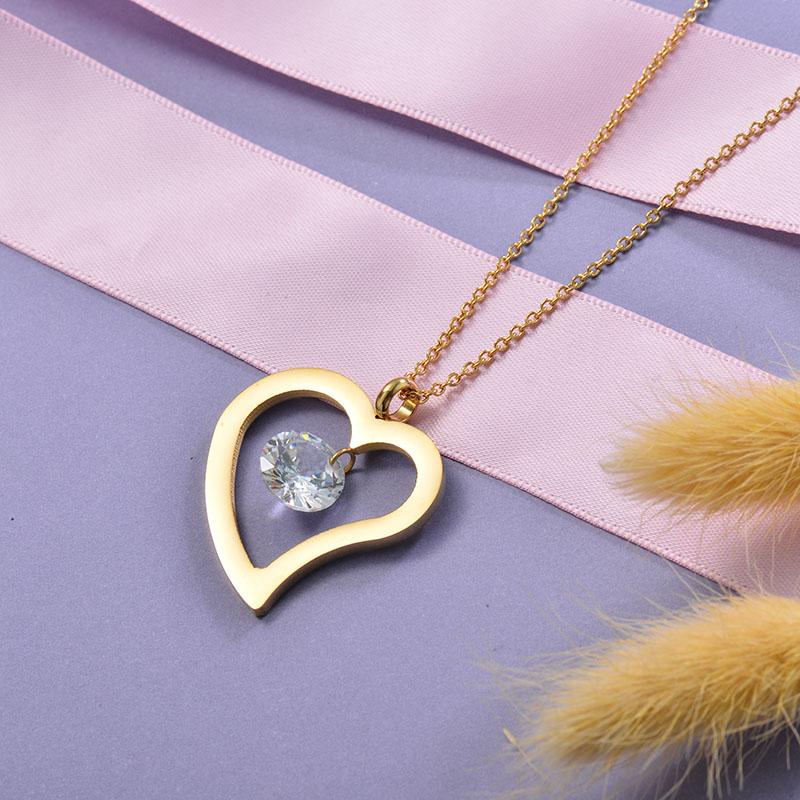 Collares de Acero Inoxidable para Mujer -SSNEG129-28664