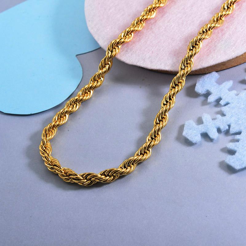 Cadenas de Acero Inoxidable para Mujer -SSNEG143-28741