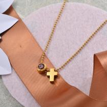 Collares de Acero Inoxidable para Mujer -SSNEG142-28207