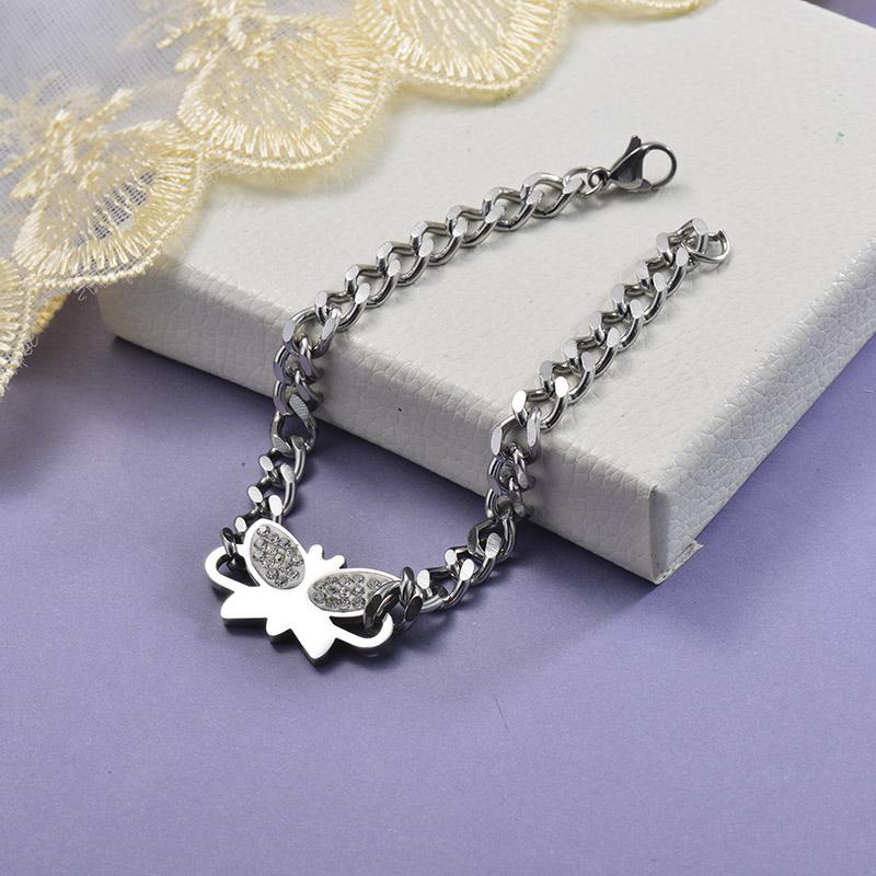 Collares de Acero Inoxidable para Mujer -SSBTG129-28685