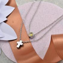Collares de Acero Inoxidable para Mujer -SSNEG142-28209