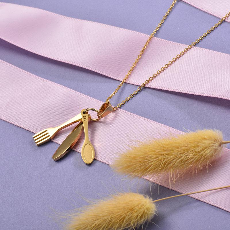 Collares de Acero Inoxidable para Mujer -SSNEG129-28663
