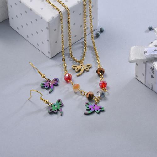 Conjunto de Joyas de Acero Inoxidable para Mujer -SSCSG107-28641