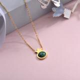 Collares de Acero Inoxidable para Mujer -SSNEG143-28889