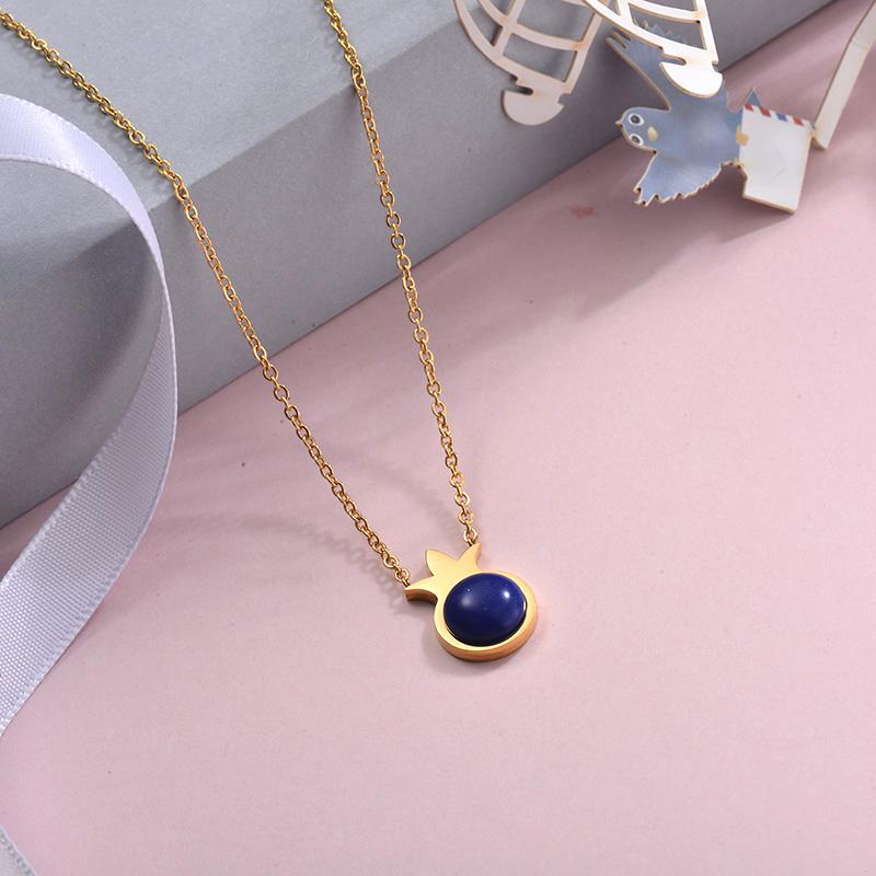 Collares de Acero Inoxidable para Mujer -SSNEG143-28890