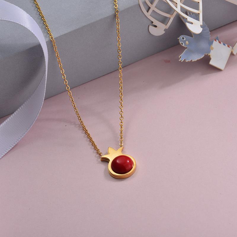 Collares de Acero Inoxidable para Mujer -SSNEG143-28888