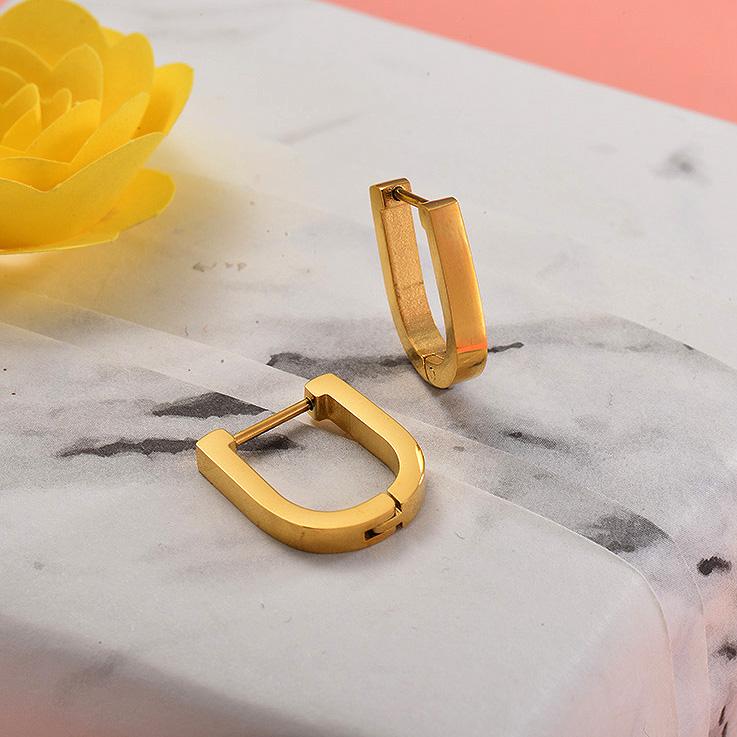 Aretes de Acero Inoxidable para Mujer -SSEGG157-28699