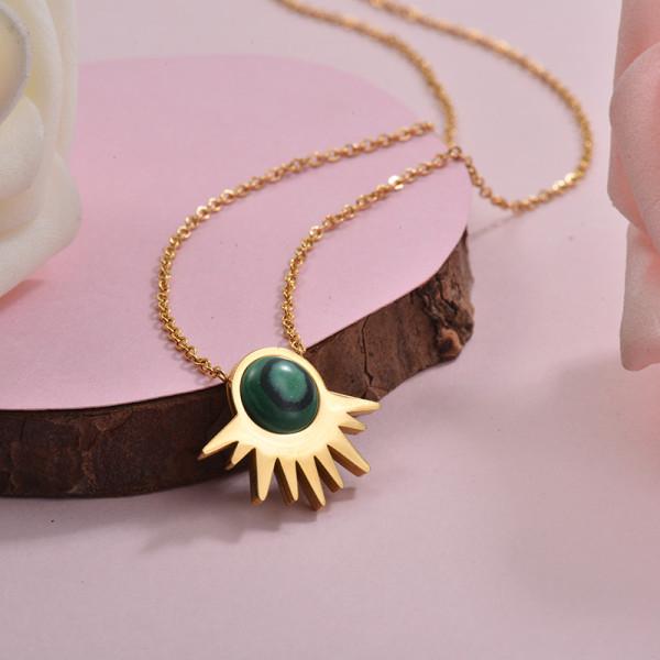 Collares de Acero Inoxidable para Mujer -SSNEG143-28906