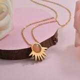 Collares de Acero Inoxidable para Mujer -SSNEG143-28901
