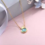 Collares de Acero Inoxidable para Mujer -SSNEG143-28893