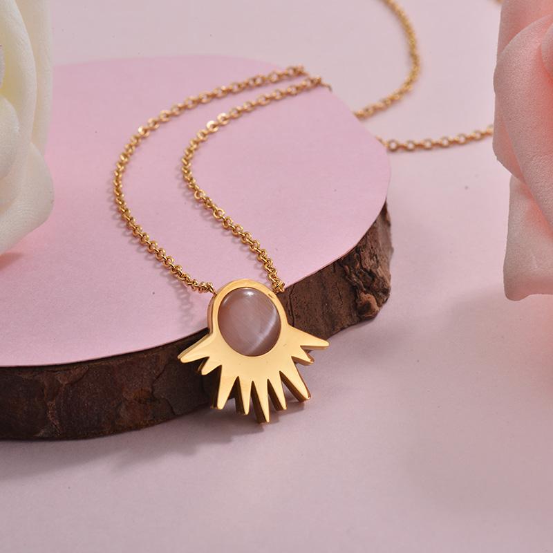 Collares de Acero Inoxidable para Mujer -SSNEG143-28897