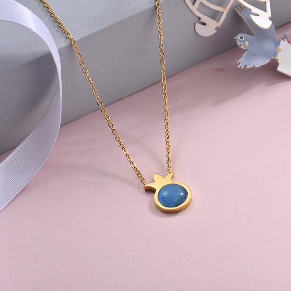 Collares de Acero Inoxidable para Mujer -SSNEG143-28892