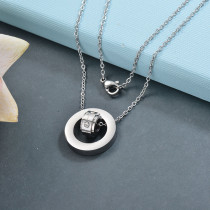 Collares de Acero Inoxidable para Mujer -SSNEG142-28785