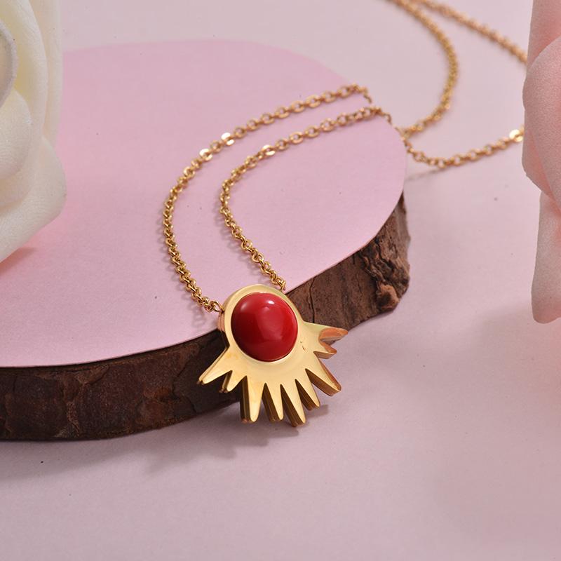 Collares de Acero Inoxidable para Mujer -SSNEG143-28903