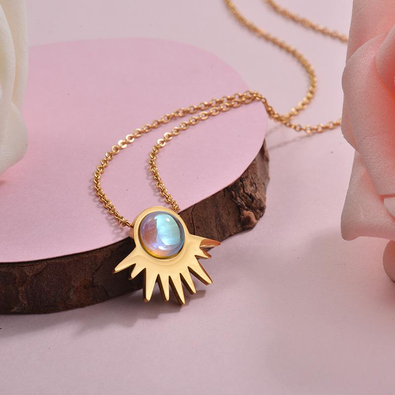 Collares de Acero Inoxidable para Mujer -SSNEG143-28902