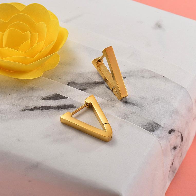 Aretes de Acero Inoxidable para Mujer -SSEGG157-28697